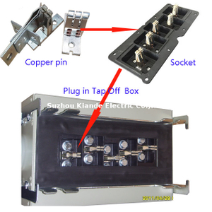 Plug in Tap Off Box Busduct Copper Conductor Link